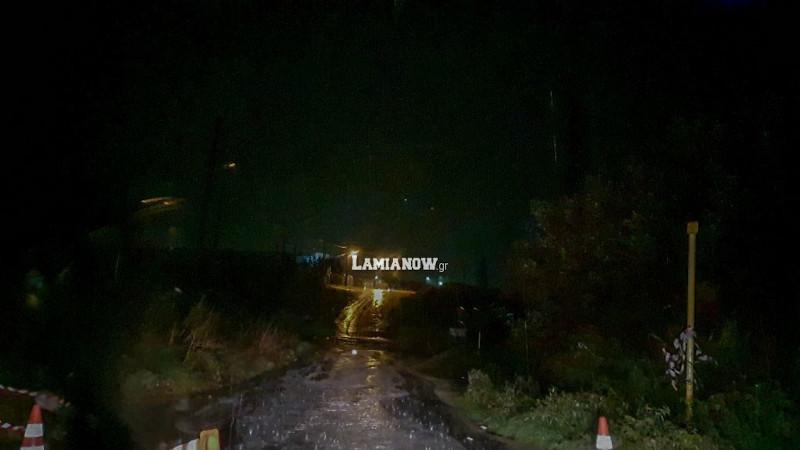 Καταρρακτώδης βροχή στη Λαμία / Φωτογραφία: lamianow.gr