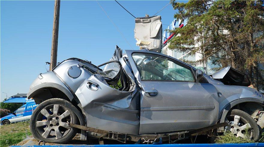 Το αυτοκίνητο που ενεπλάκη στο τροχαίο δυστύχημα