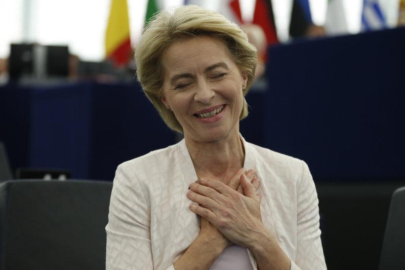 Η Ούρσουλα φον ντερ Λάιεν ευχαριστεί για την εκλογή της /