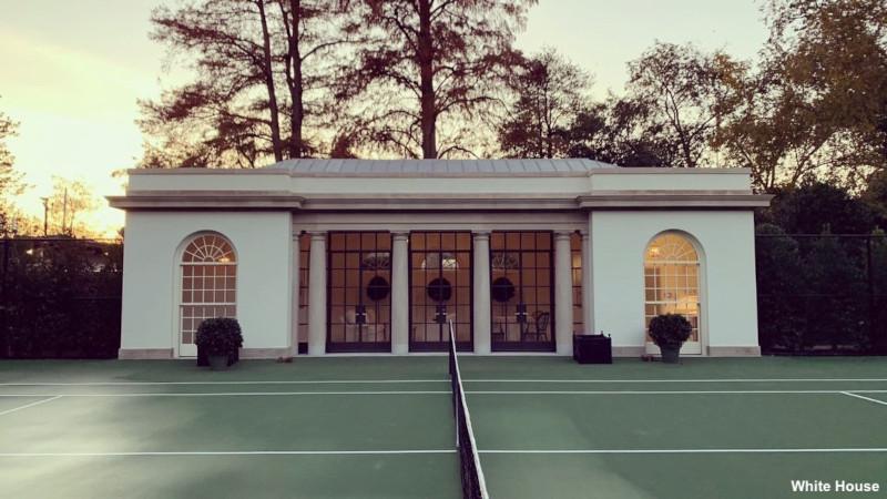 Το νέο κιόσκι του τένις στον Λευκό Οίκο