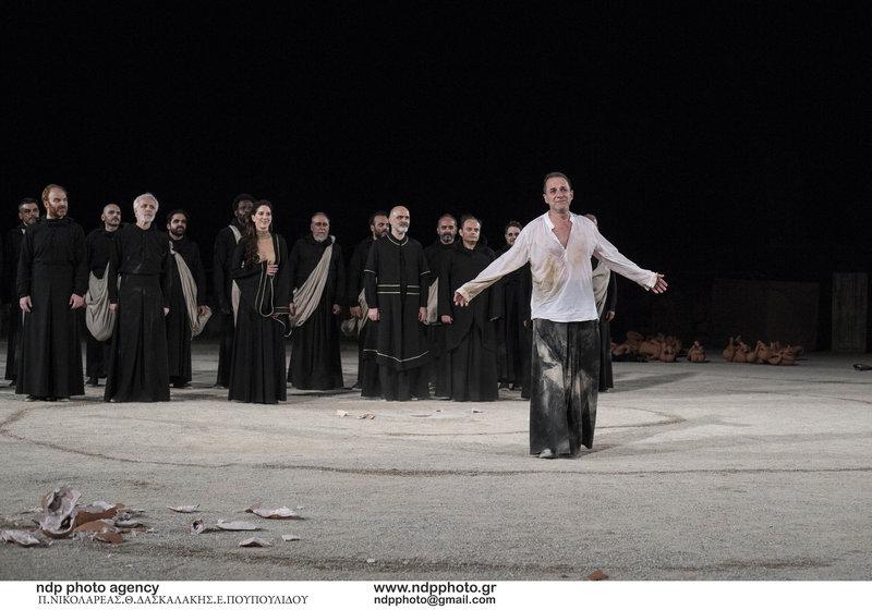 Ο Δημήτρης Λιγνάδης στην παράσταση «Οιδίπους Τύραννος»