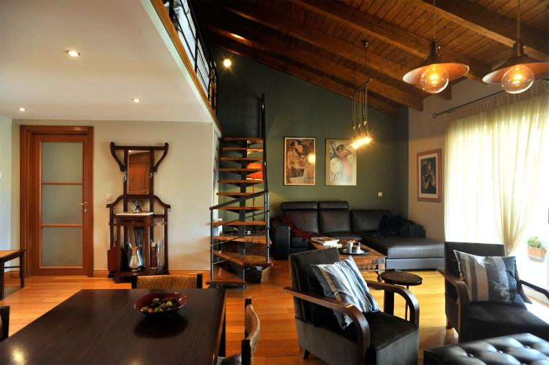 σαλόνι με λονδρέζικη διακόσμηση