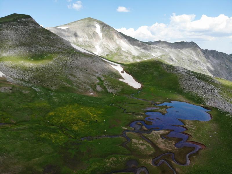 λιμνη χιονι