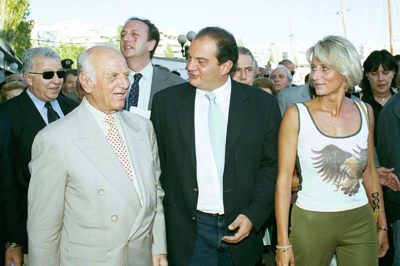 Αντώνης Λιβάνης με τον Κώστα και τη Νατάσα Καραμανλή