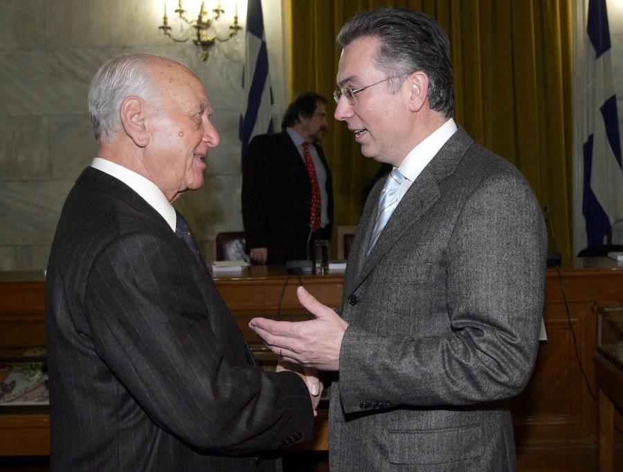 Ο Αντώνης Λιβάνης με τον Θοδωρή Ρουσόπουλο