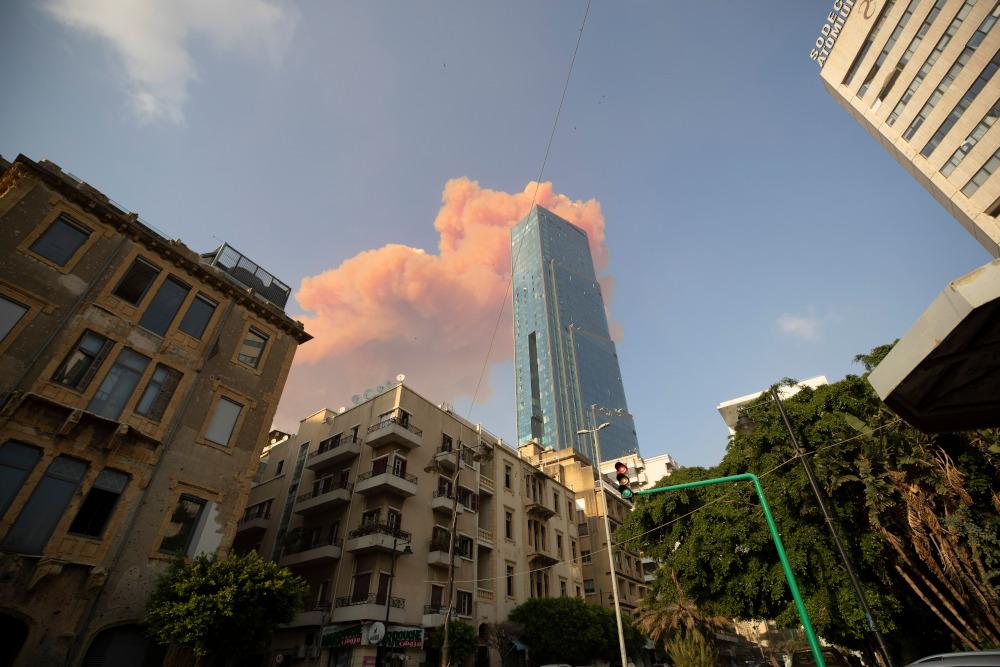 Καπνοί πάνω από την Βηρυτό