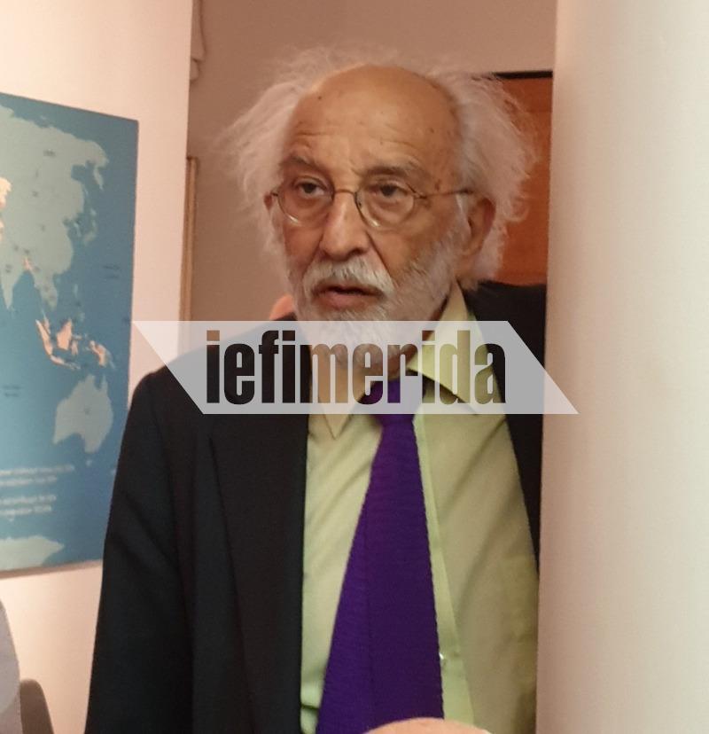Ο Αλέξανδρος Λυκουρέζος στην έκθεση του Νικόλαου Γλίξμπουργκ