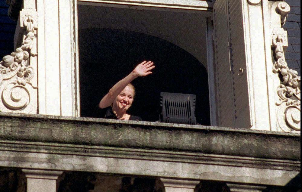 Η Μαντόνα κατά την προώθηση της ταινίας Εβίτα το 1996 στην Αργεντινή