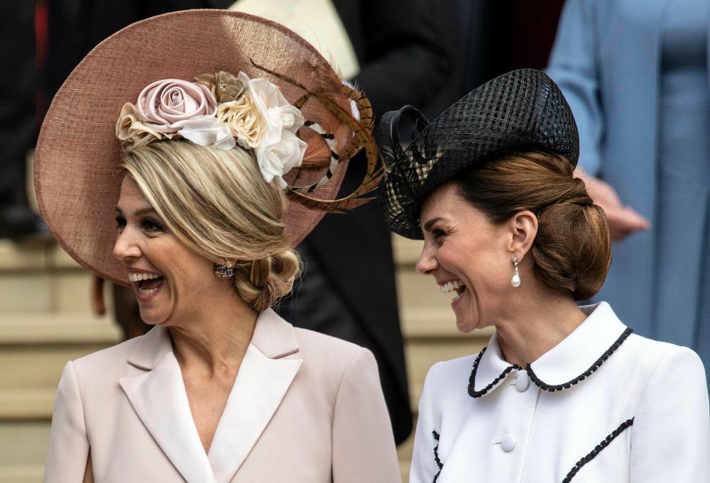 Βασίλισσα Μαξίμα και Κέιτ Μίντλετον μοιράζονται κάποιο αστείο