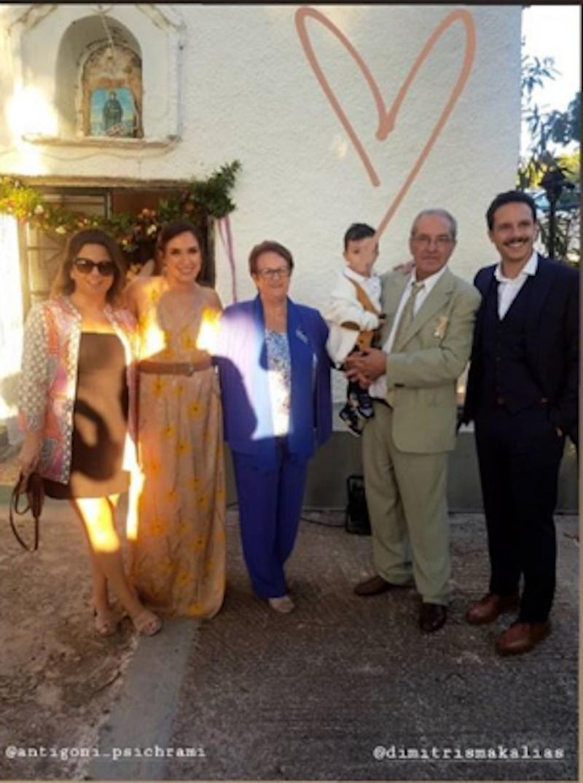 Συγγενείς και φίλοι παρευρέθηκαν στην εκκλησία / Φωτογραφία: Instagram