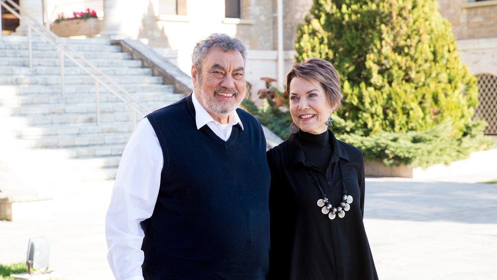 Πάνος Κανέλλης & Εύα Βαρελλά Κανέλλη, Πρόεδρος Αμερικανικής Γεωργικής Σχολής & Perrotis College, Διευθύντρια Υπηρεσιών Σπουδαστών Perrotis College