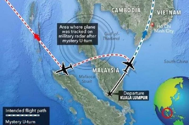 H ΜΗ370 απογειώθηκε από την Κουάλα Λουμπούρ με προορισμό το Πεκίνο, όμως σύμφωνα με την κυβέρνηση της Μαλαισίας έκανε μια μυστηριώδη στροφή