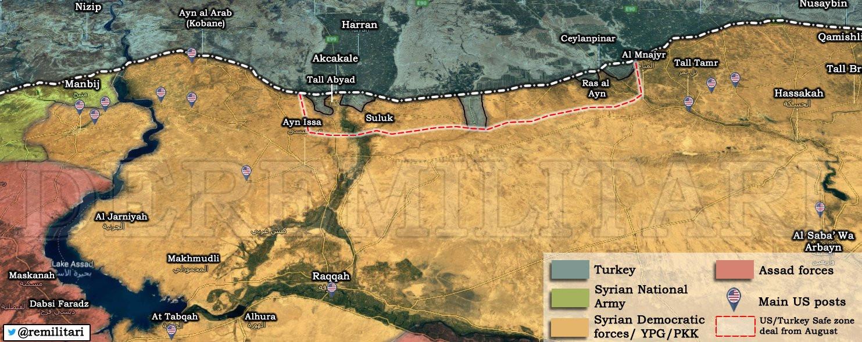 Ο χάρτης με τις θέσεις Τούρκων και Κούρδων στη Συρία