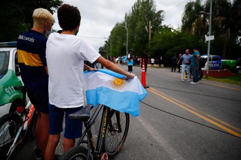 Η σημαία της Αργεντινής βγήκε στη μνήμη του Ντιέγκο