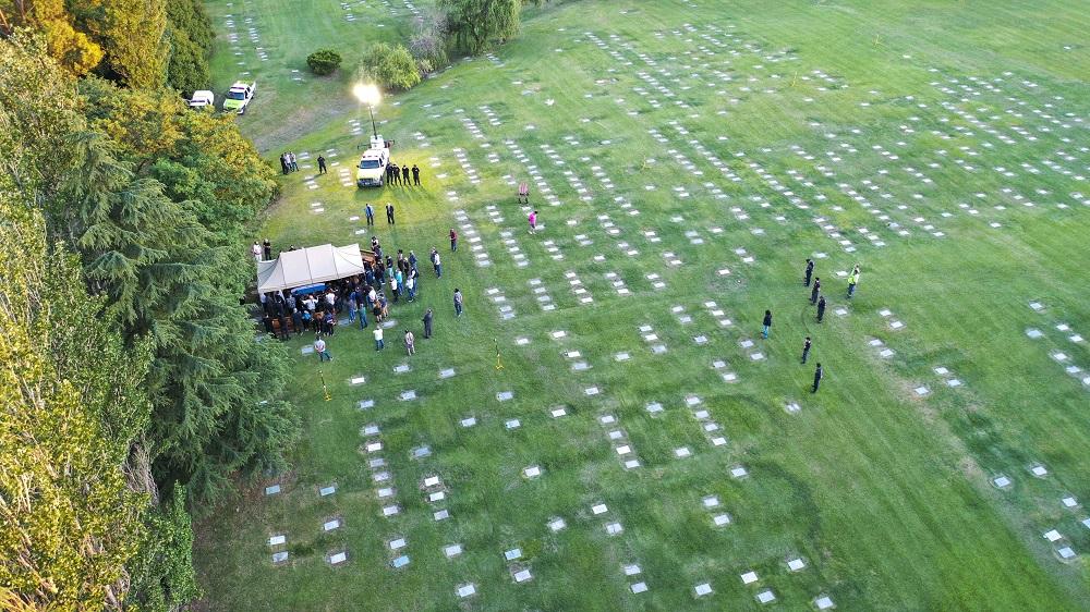 Η κηδεία του Μαραντόνα στο νεκροταφείο