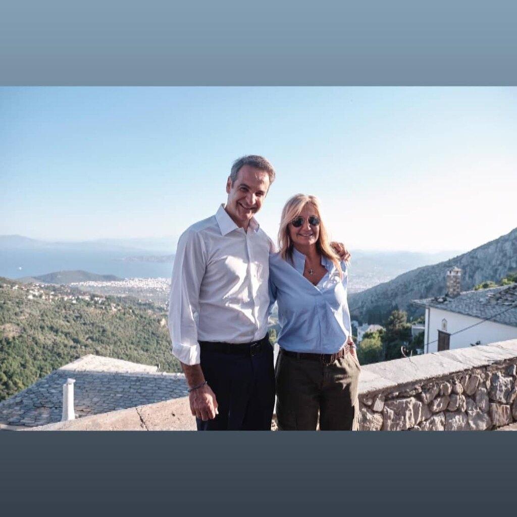 Η φωτογραφία που ανέβασε η κ. Μητσοτάκη στο Instagram από τον Βόλο
