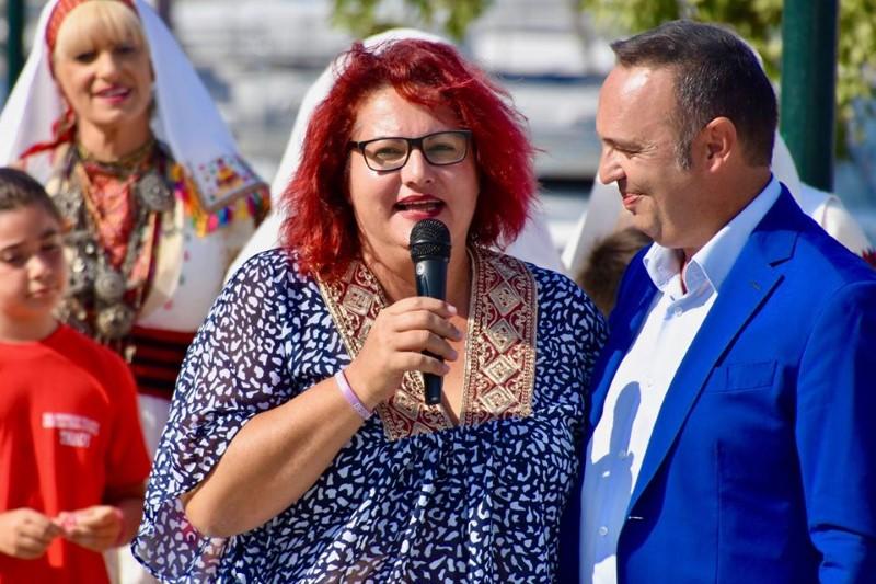Η δήμαρχος Τήλου Μαρία Καμμά Αλειφέρη