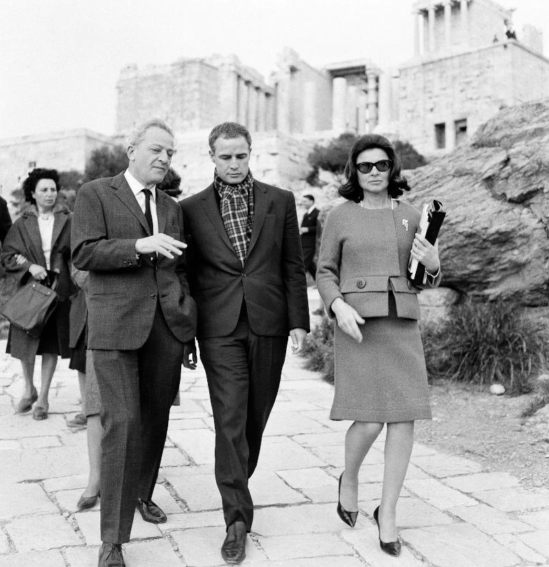 Ο Μάρλον Μπράντο με τον Ζιλ Ντασέν στην Ακρόπολη