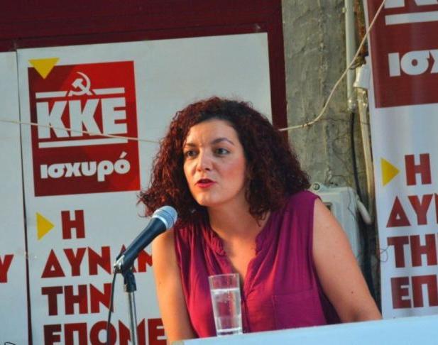 Η Μαρία Κομνηνάκα είναι το νέο μέλος της κοινοβουλευτικής ομάδας του ΚΚΕ και η πρώτη γυναίκα βουλευτής του κόμματος από τη Λέσβο