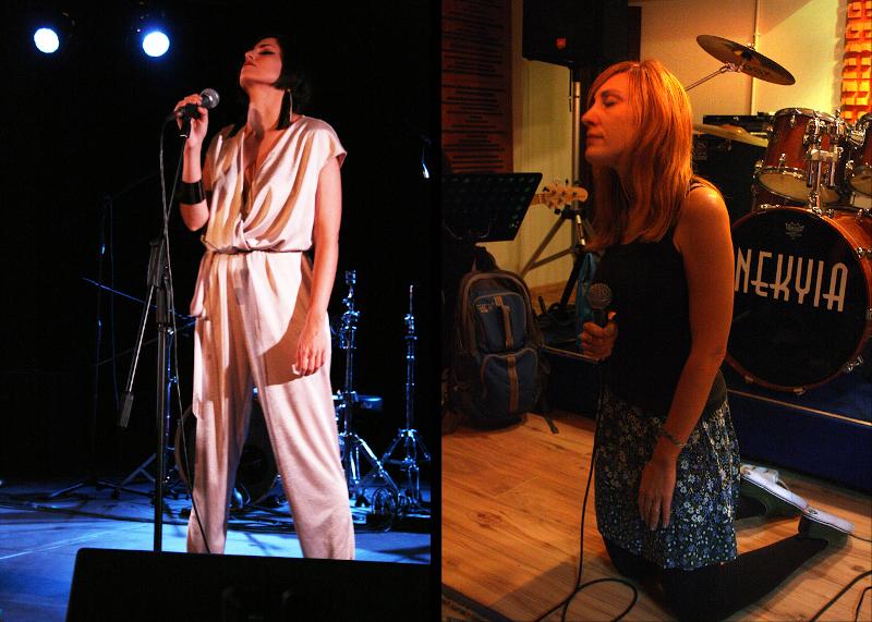 Η Μάρβα Βούλγαρη και η Μάρσια Ισραηλίδη, τραγουδίστριες των σημερινών dream pop σχημάτων, Marva von Theo και Playground Theory αντιστοίχως