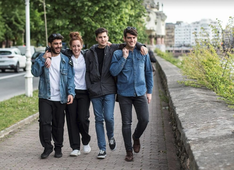 Οι δύο φιναλίστ, Μανώλης και Σπυριδούλα στην Ισπανία μαζί με τον Χρήστο και τον Πάνο / Φωτογραφία: Instagram