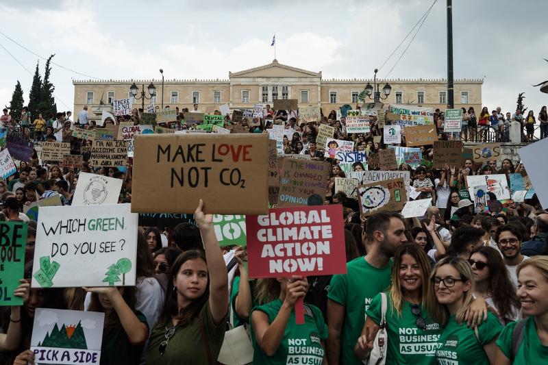 Οι μαθητές διαδηλώνουν για το κλίμα