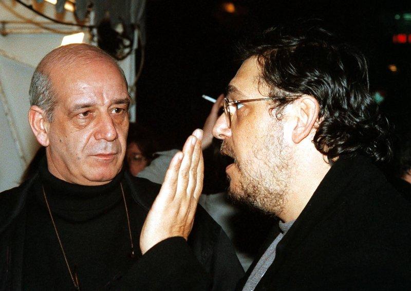 Ο Λαυρέντης Μαχαιρίτσας με τον φίλο του Δημήτρη Μητροπάνο / Φωτογραφία: Eurokinissi