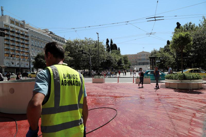 Ο Μεγάλος Περίπατος στην πλατεία Συντάγματος