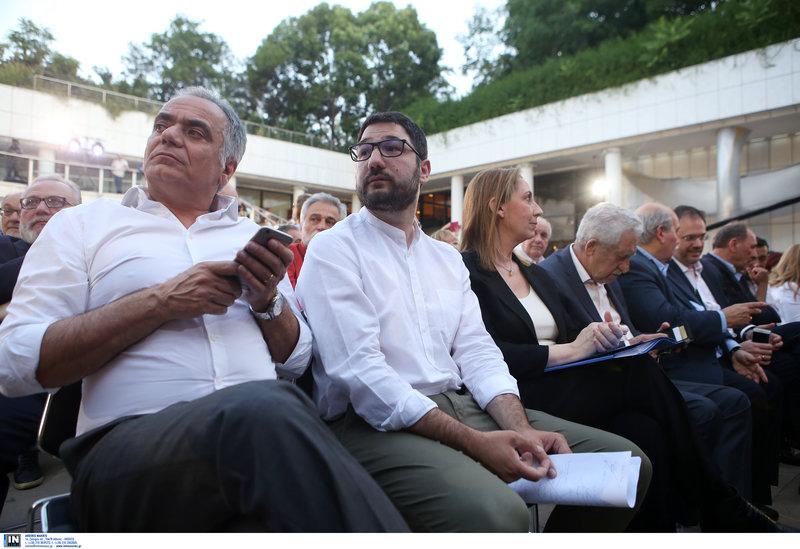 Πάνος Σκουρλέτης, Νάσος Ηλιόπουλος, Μ. Ξενογιαννακοπούλου, Φ. Κουβέλης