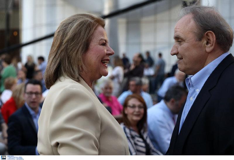Λούκα Κατσέλη και Στέφανος Τζουμάκας στην εκδήλωση του ΣΥΡΙΖΑ