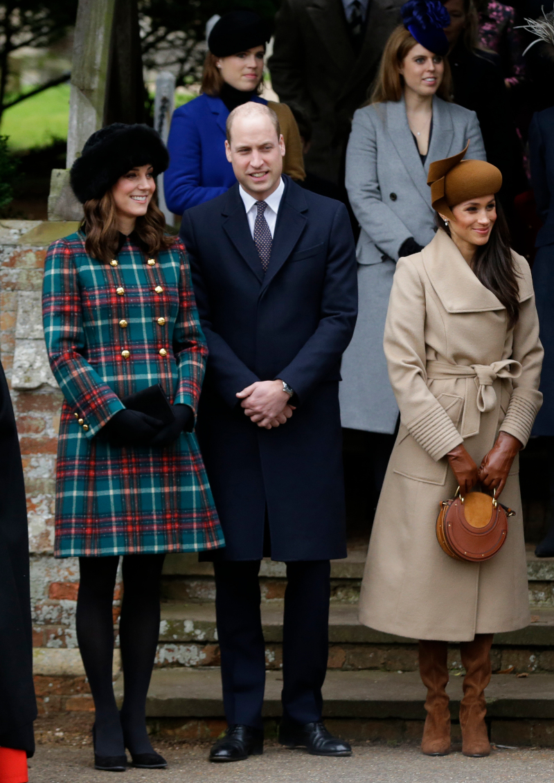Μέγκαν Μαρκλ, πρίγκιπας Γουίλιαμ και Κέιτ Μίντλετον στην χριστουγεννιάτικη λειτουργία