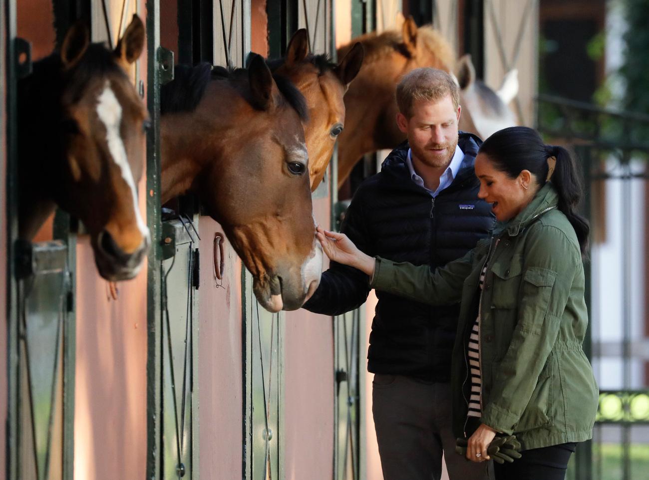 Μέγκαν Μαρκλ και πρίγκιπας Χάρι με άλογα στο Μαρόκο
