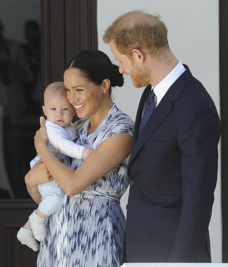 Η Μέγκαν Μαρκλ με τον πρίγκιπα Χάρι και ον μικρό Άρτσι