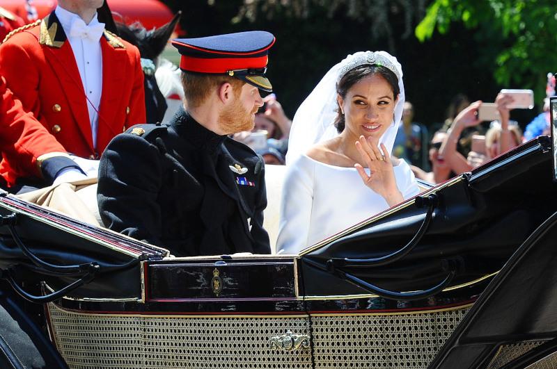 Μέγκαν Μαρκλ και πρίγκιπας Χάρι στον βασιλικό τους γάμο