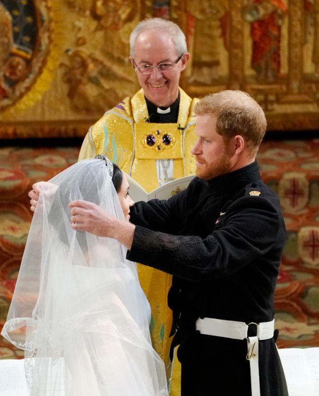 Μέγκαν Μαρκλ στον γάμο με τον Πρίγκιπα Χάρι.