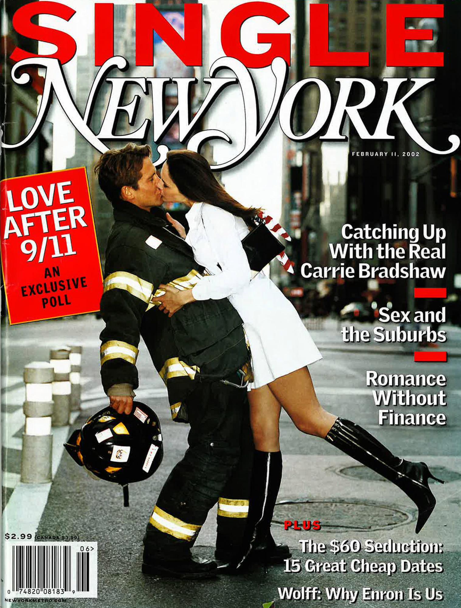 Η Μελάνια Τραμπ σε ένα παθιασμένο φιλί με πυροσβέστη για αμερικανικό περιοδικό
