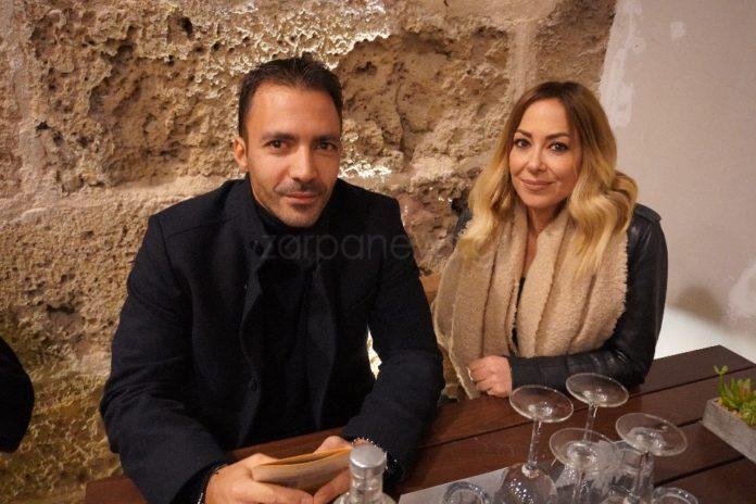 Ο Βασίλης Μουντάκης και η Μελίνα Ασλανίδου σε εκδήλωση στα Χανιά