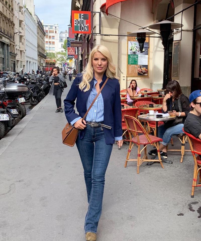 Η Ελένη Μενεγάκη κάνει βόλτες στο Παρίσι / Φωτογραφία: Instagram