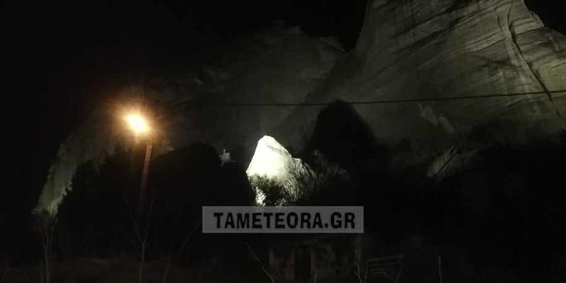 Αποκόλληση βράχου στα Μετέωρα