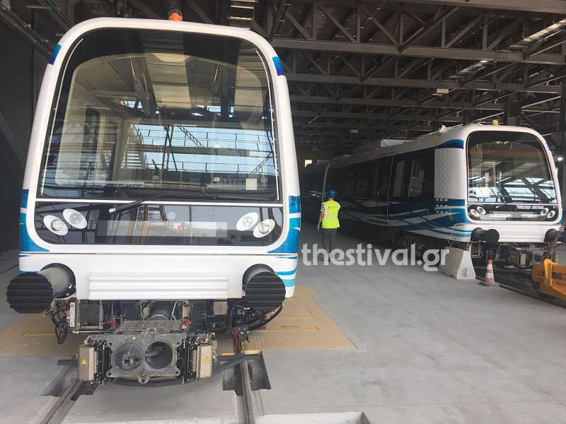 Οι συρμοί του μετρό Θεσσαλονίκης