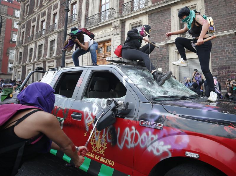 Επεισόδια στο Μεξικό στη διάρκεια της Παγκόσμιας Ημέρας της Γυναίκας