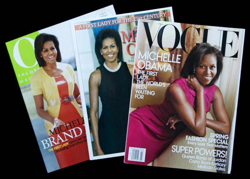 Η Μισέλ Ομπάμα σε εξώφυλλα περιοδικών