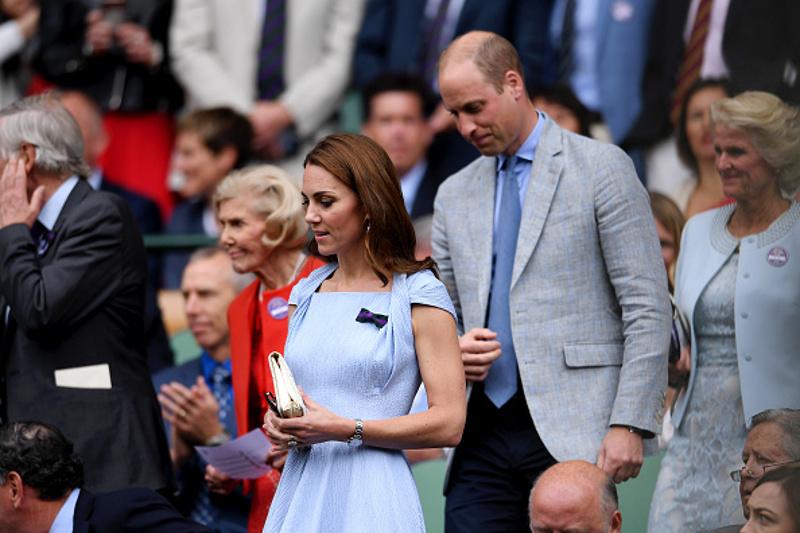 Η Κέιτ Μίντλετον και ο πρίγκιπας Γουίλιαμ στον τελικό του Γουΐμπλεντον / Φωτογραφία: gettyimages.com