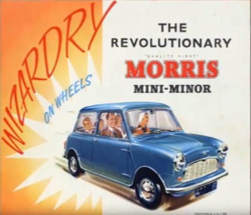«Η μαγεία σε ρόδες» γράφει η αφίσα της εποχής για το «επαναστατικό Morris Mini-Minor