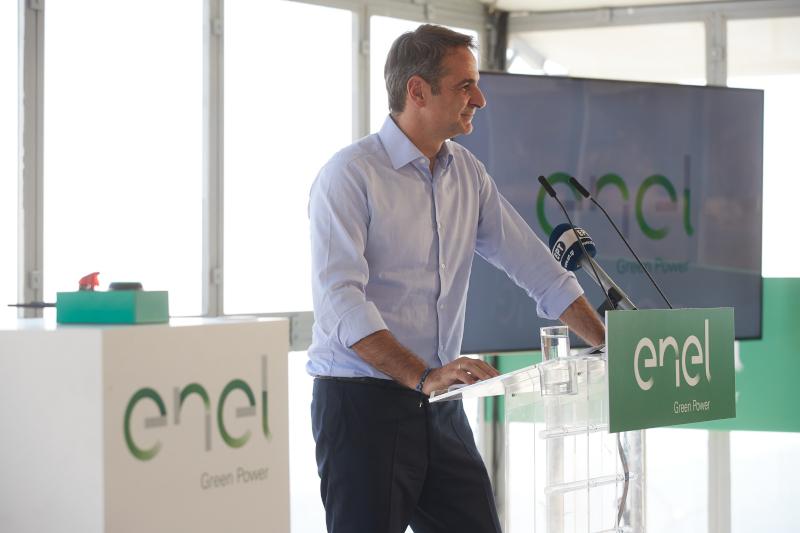Ο πρωθυπουργός, Κυριάκος Μητσοτάκης κατά την ομιλία του