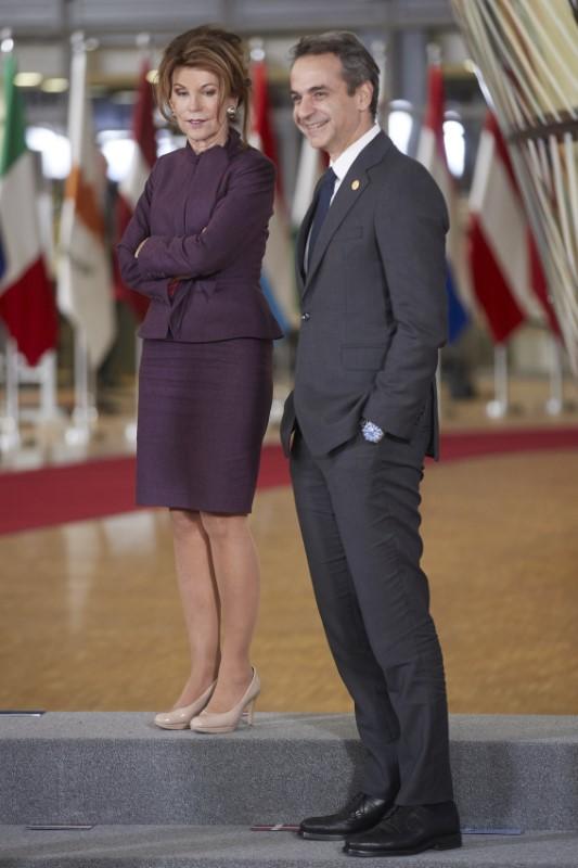 Η καγκελάριος της Αυστρίας, Μπριγκίτε Μπιρλάιν και ο Κυριάκος Μητσοτάκης