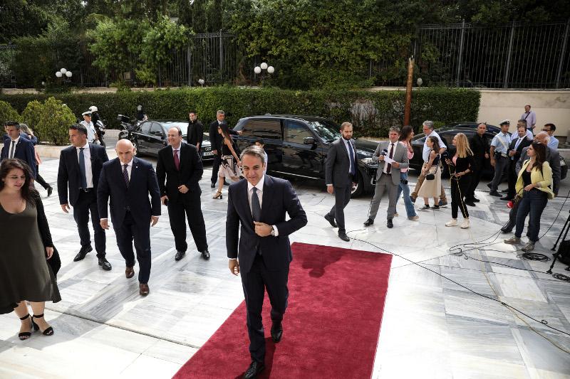 Η άφιξη του πρωθυπουργού, Κυριάκου Μητσοτάκη