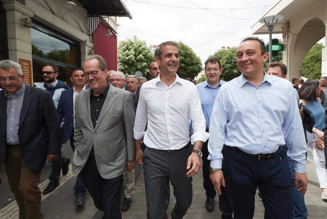 Ο Κυριάκος Μητσοτάκης στην περιοδεία του στην Πελοπόννησο