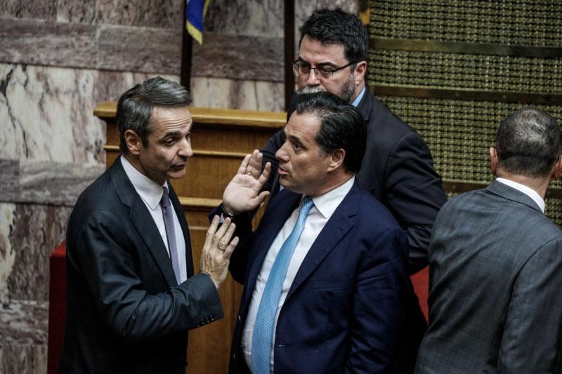 Ο πρωθυπουργός, Κυριάκος Μητσοτάκης με τον Αδωνι Γεωργιάδη