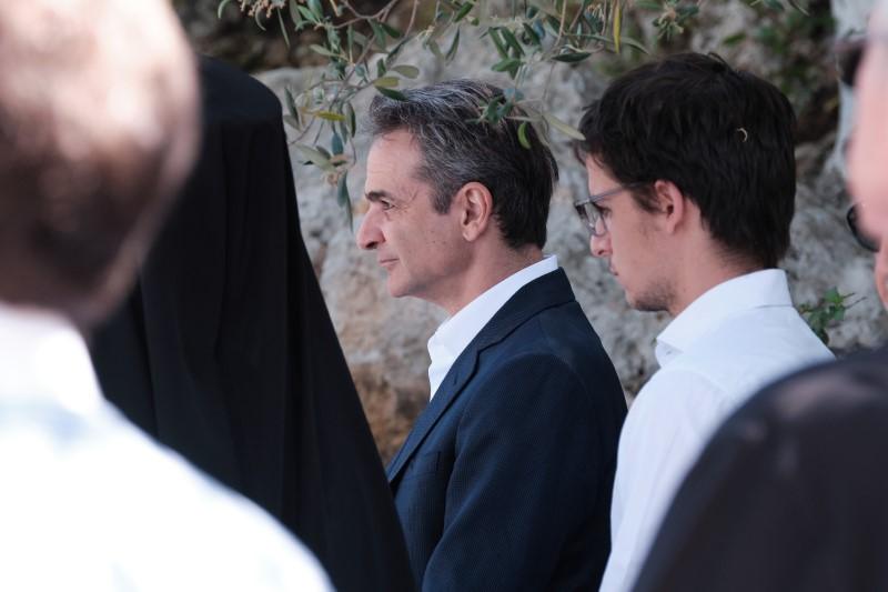 Ο Κυριάκος Μητσοτάκης και ο γιος του Κωνσταντίνος